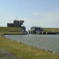 Landeshafen Friedrichskoog Umgestaltung des Sperrwerks in ein Schöpfwerk