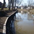 Sanierung der Ufersicherung an der Braake in Brunsbüttel